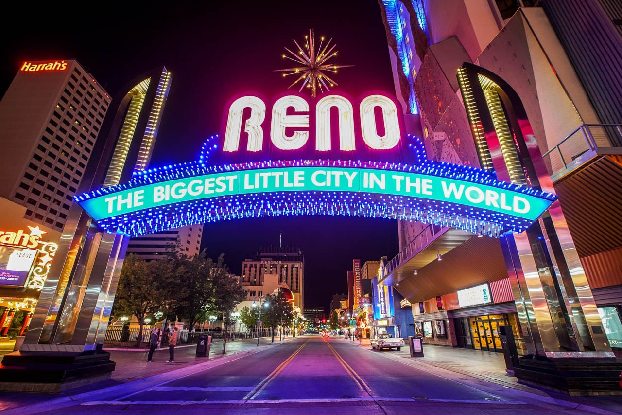 Reno Arch in downtown Reno.